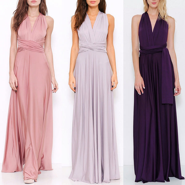 Affordable Convertible Maxi Bridesmaid Dress In 3 Colors Frugal Mughal