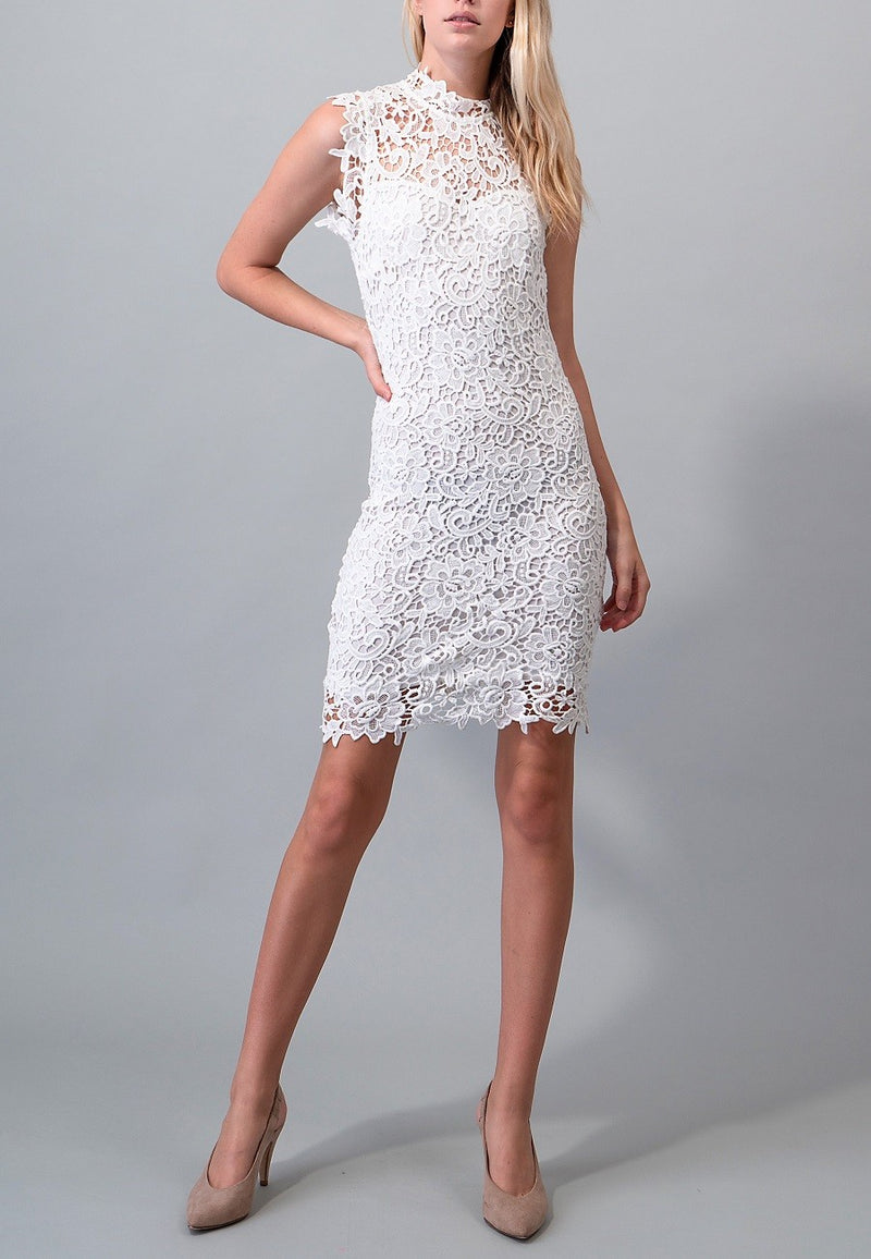 White Bridal shower lace dress