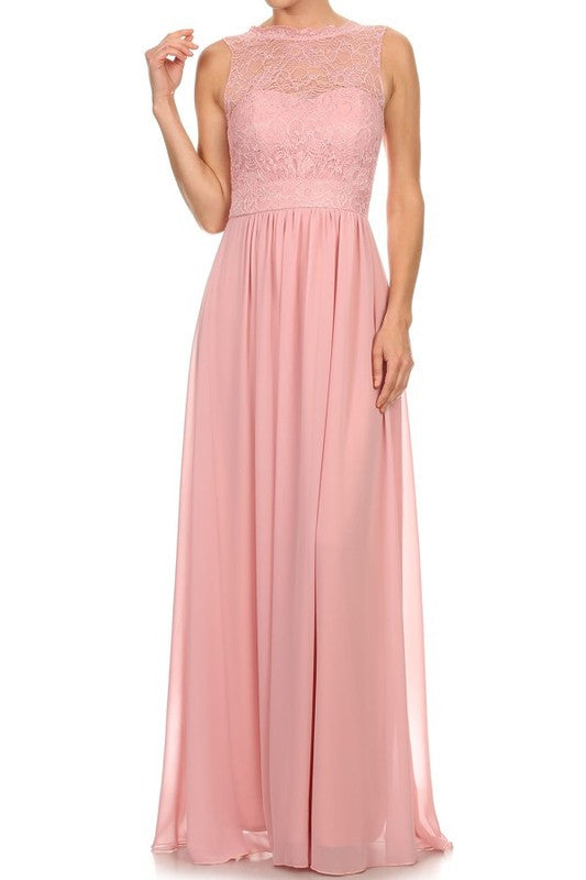 Affordable Chiffon and Lace Bridesmaid Ruby Dress in 4 colors S - 3XL