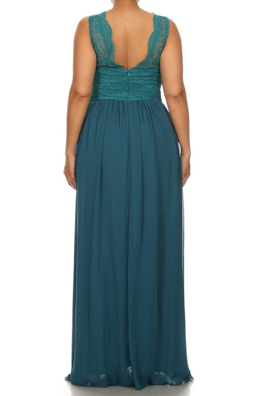 Affordable Chiffon And Lace Bridesmaid Ruby Dress In 4 Colors S