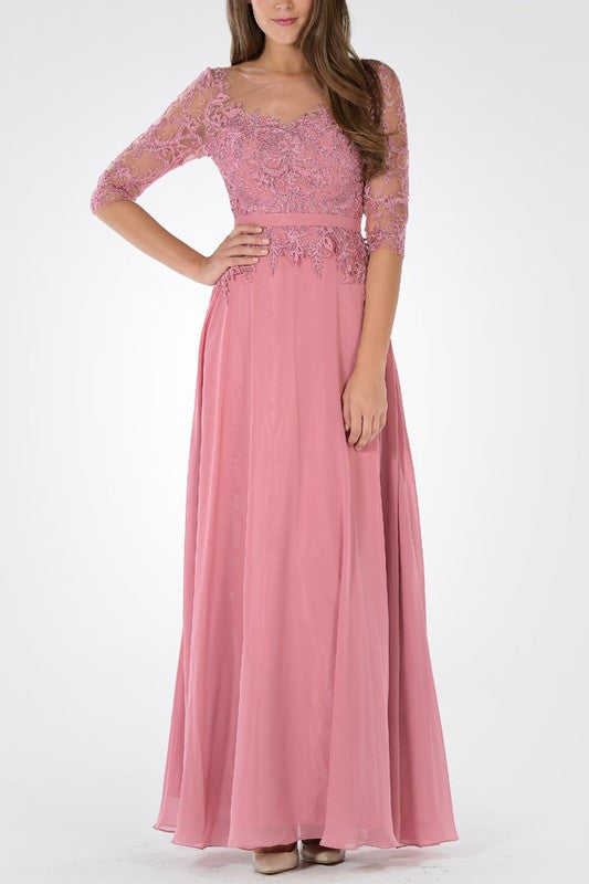 Dusty Pink mother of the Bride Dress