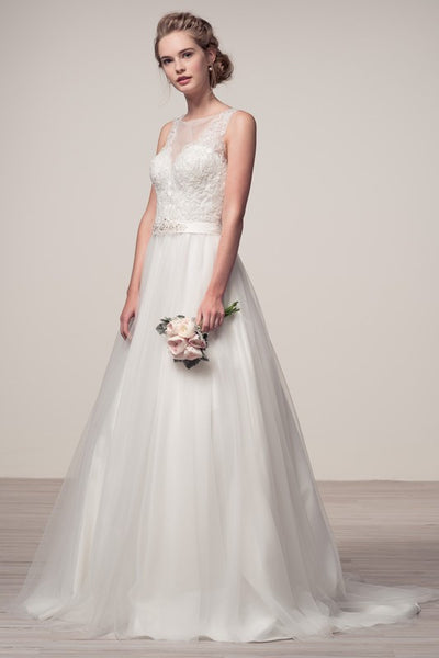 Affordable Off White Fairytale Tulle Wedding Gown Bridal Dress XS - 2XL