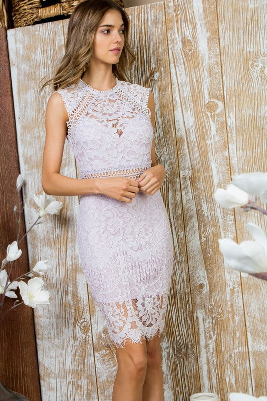 Short Lavender Bridesmaid Dress