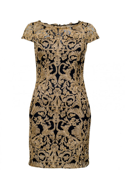 Black and Gold baroque Dress