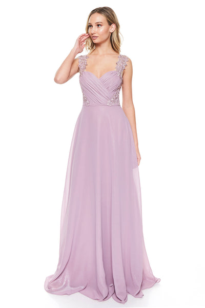 Mauve Long Bridesmaid Dress