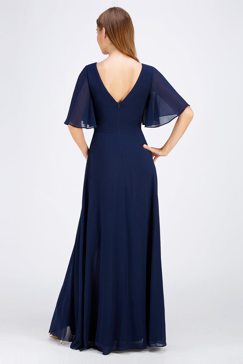 Long affordable maxi Bridesmaid dress in Navy, Blush, Lavender and Burgundy