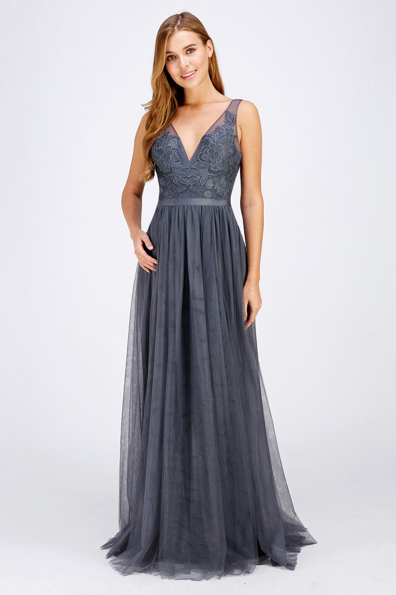 Charcoal Bridesmaid dress