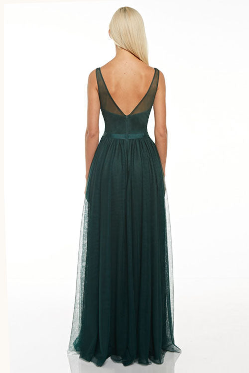 Affordable floral lace and tulle maxi Bridesmaid dress 5 colors
