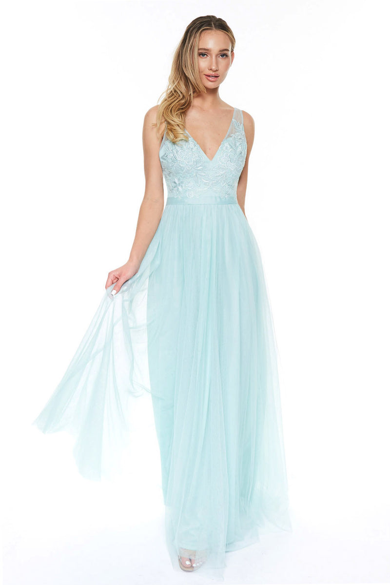 Sage long Bridesmaid Dress