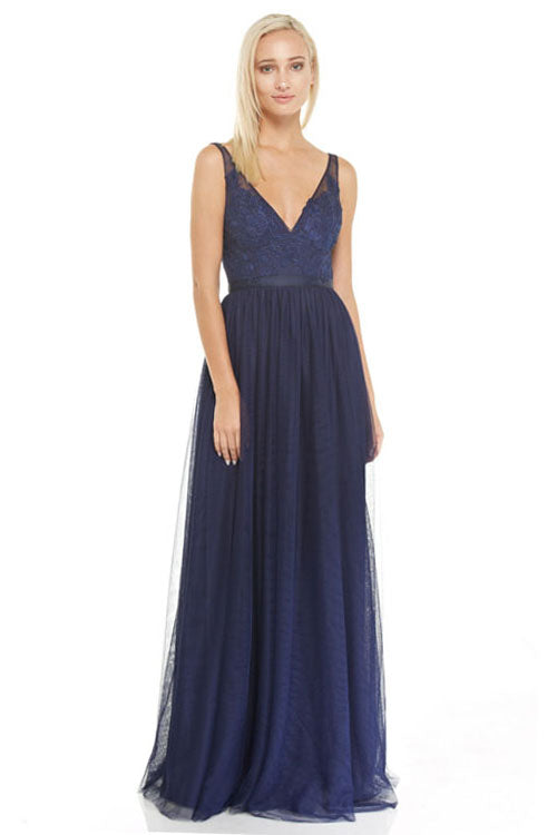 Navy Tulle Bridesmaid Dress