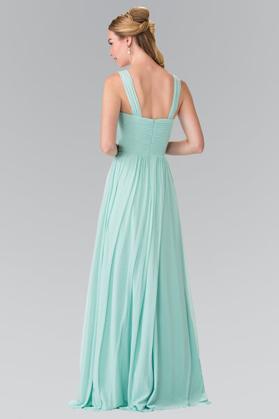 Floor Length Audrey Bridesmaid Chiffon dress Prom Evening Gown in 5 colors