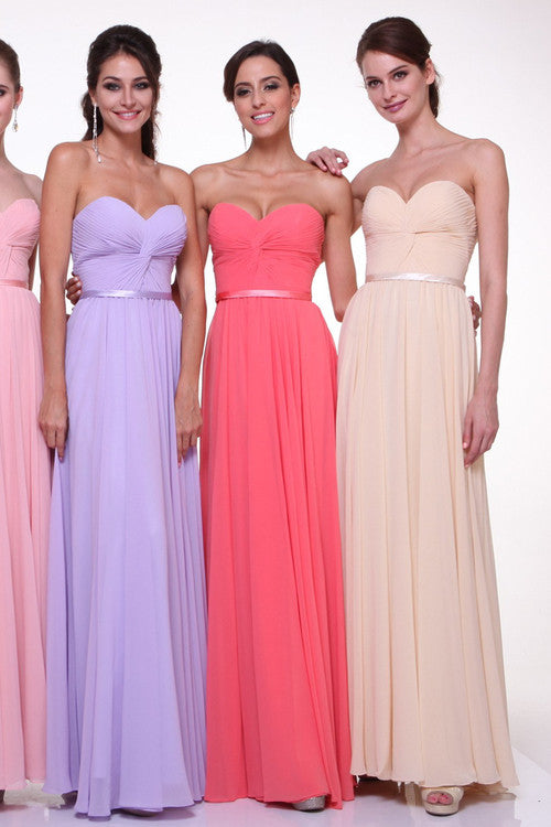 Elegant Floor Length Chiffon Long Bridesmaid Dress Gown All colors size 4 - 16