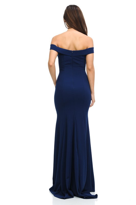 Long Off The Shoulder Flare Mermaid Formal Party Bridesmaid Dress 5 colors
