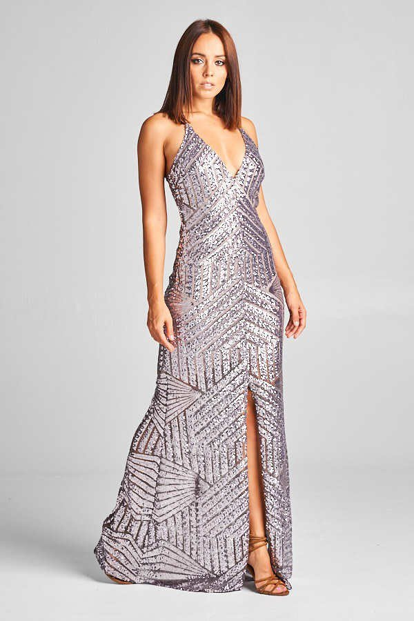 Maxi Sequin Dress