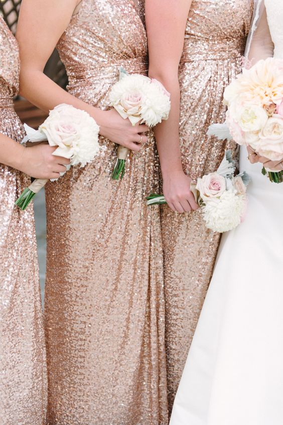 Sequin Long bridesmaid Dress