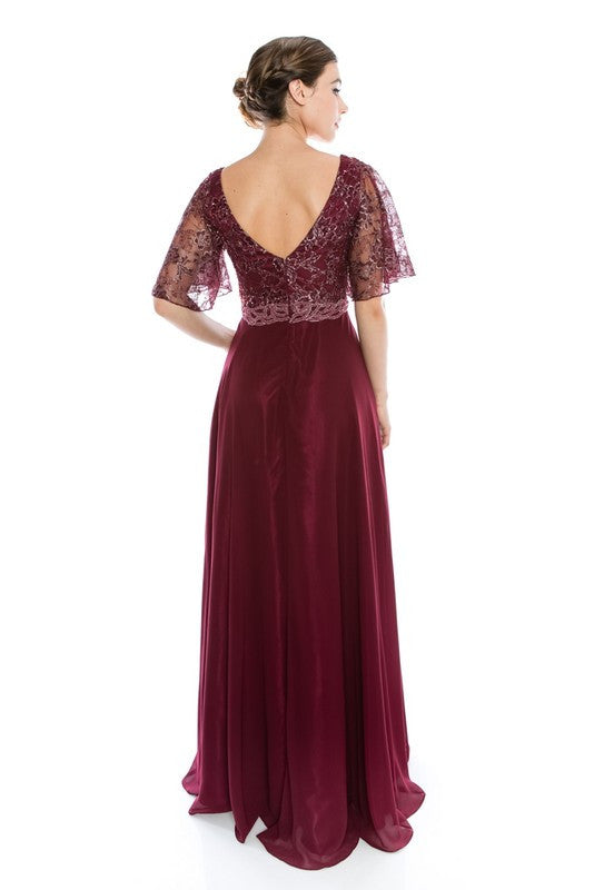 Burgundy Evening Gown