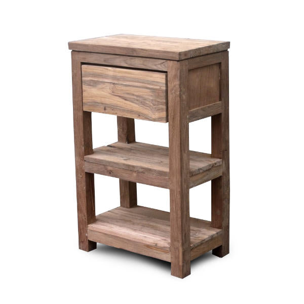 Recycle side table 1 dwr 2 shelf