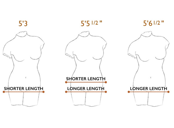 Fit - 2 Torso Lengths, 10 sizes