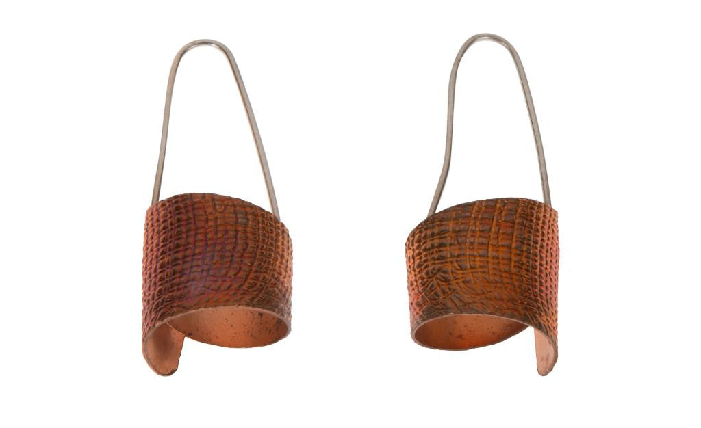 Copper Basket Weave Earrings