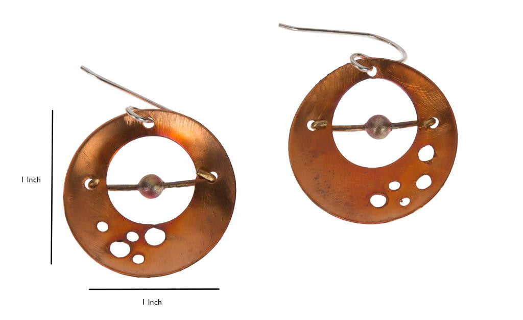 Circle and Bead Earrings