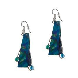 Reversible Blue/Crimson Earrings -Original Print