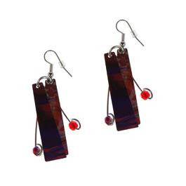 Reversible Burgundy/Red Earrings - Original Print