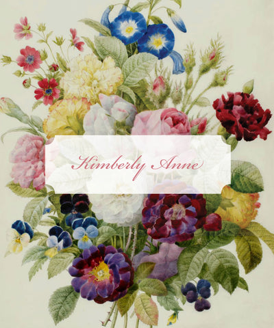 Antique Floral - Notebook