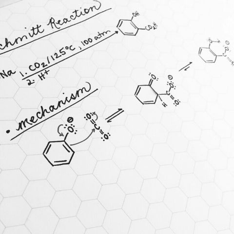 Organic Chemistry Hexagon Notepad