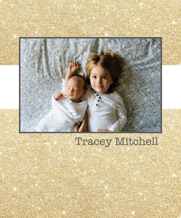 Glitter Photo Cover Notebook