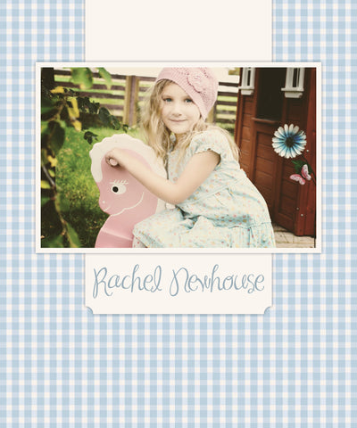 Blue Gingham Photo Cover