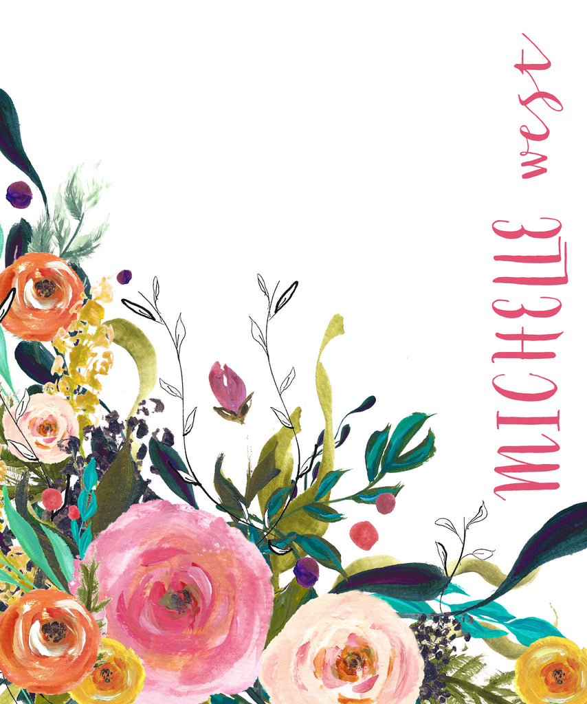 Cover - Handpainted Corner Floral