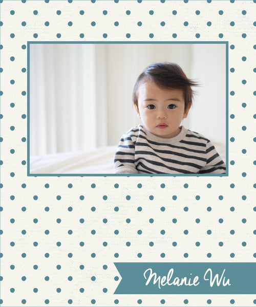 Cream & Teal Dots Photo Cover
