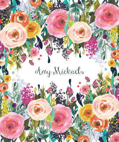 Cover - Handpainted Floral Surround