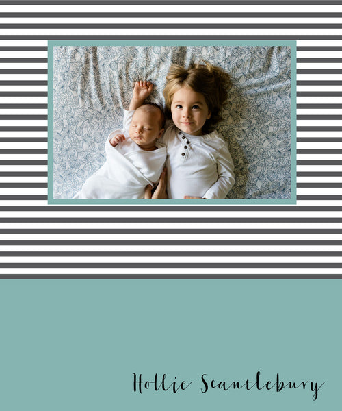 Stripes Photo Cover Notebook