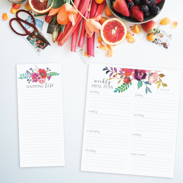 Meal Planning Pad with Shopping List