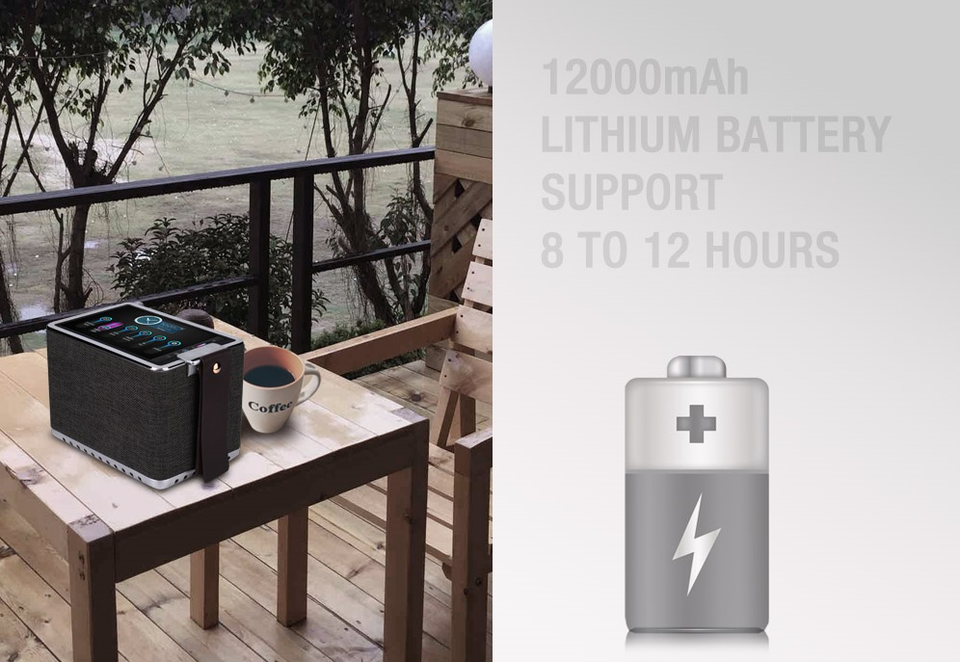 Built-in Large Battery