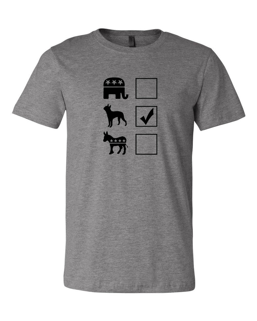 Vote Boston Terrier Unisex T-Shirt