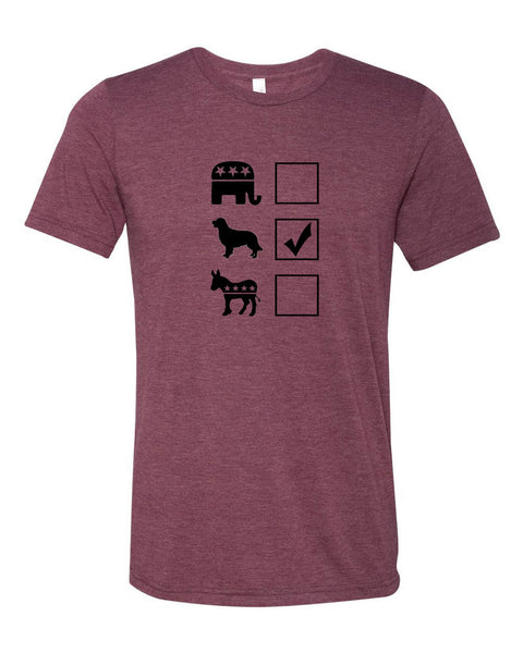 "Vote Golden Retriever Unisex ""ULTRA SOFT"" T-shirt"