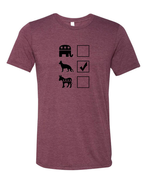 "Vote German Shepherd Unisex ""ULTRA SOFT"" T-shirt"