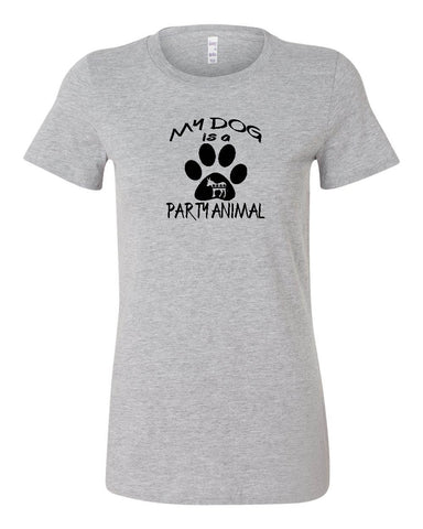 "Democratic ""MY DOG IS A PARTY ANIMAL""  Ladies' T-shirt"