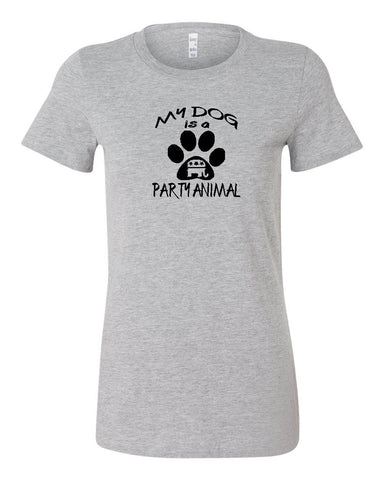 "Republican ""MY DOG IS A PARTY ANIMAL"" Ladies' T-shirt"