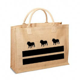 DC English Bulldog Flag Jute Bag