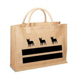 DC French Bulldog Flag Jute Bag