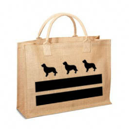 DC Golden Retriever Flag Jute Bag