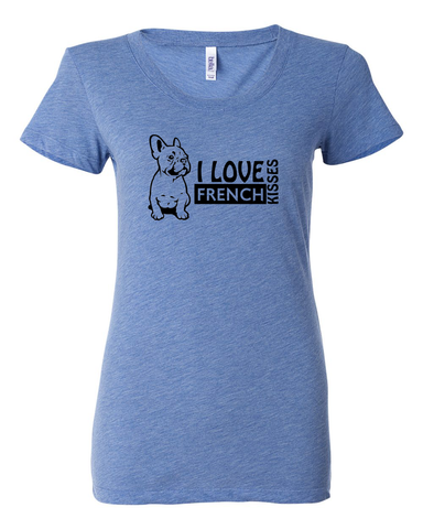 "I LOVE FRENCH KISSES Women's ""ULTRA SOFT"" T-Shirt"