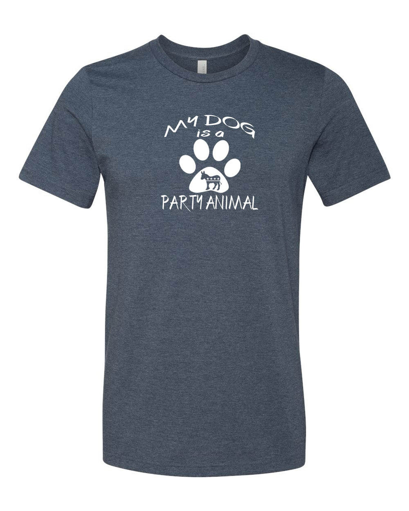 "Democratic ""MY DOG IS A PARTY ANIMAL""  Men's T-shirt"