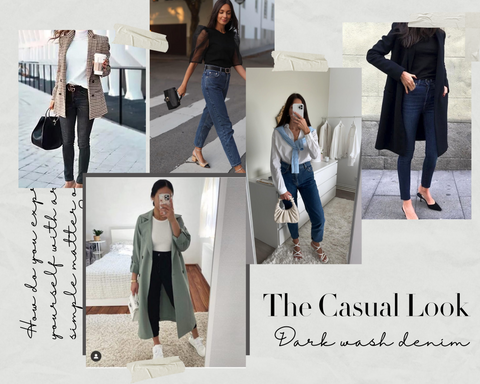 casual work outfits with jeans