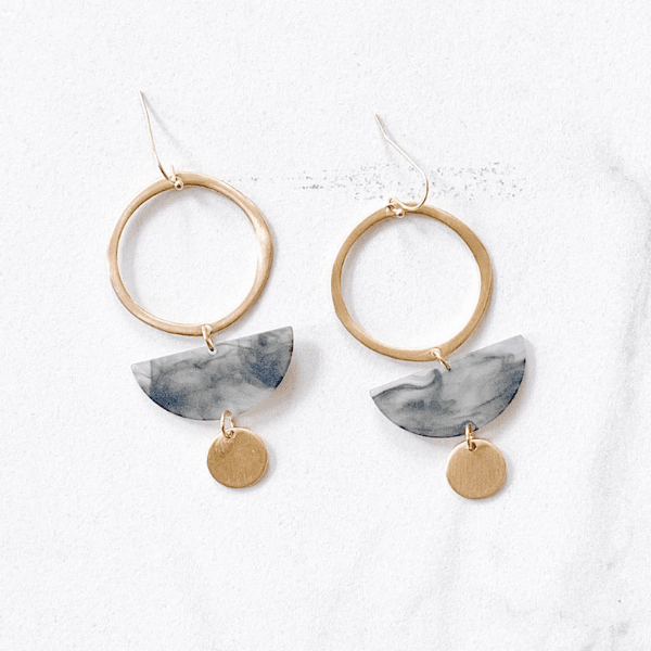 'Riley' Resin Drop Earrings