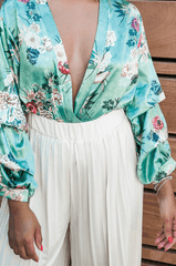 Printed Minted Blouse
