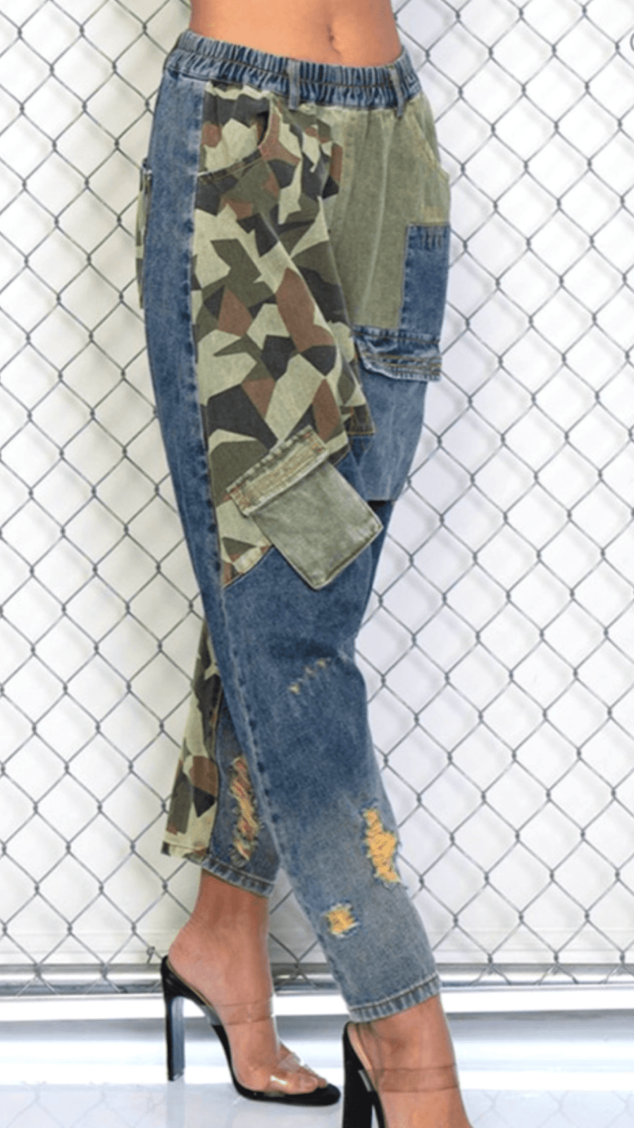 Ky | Camo Denim Pants